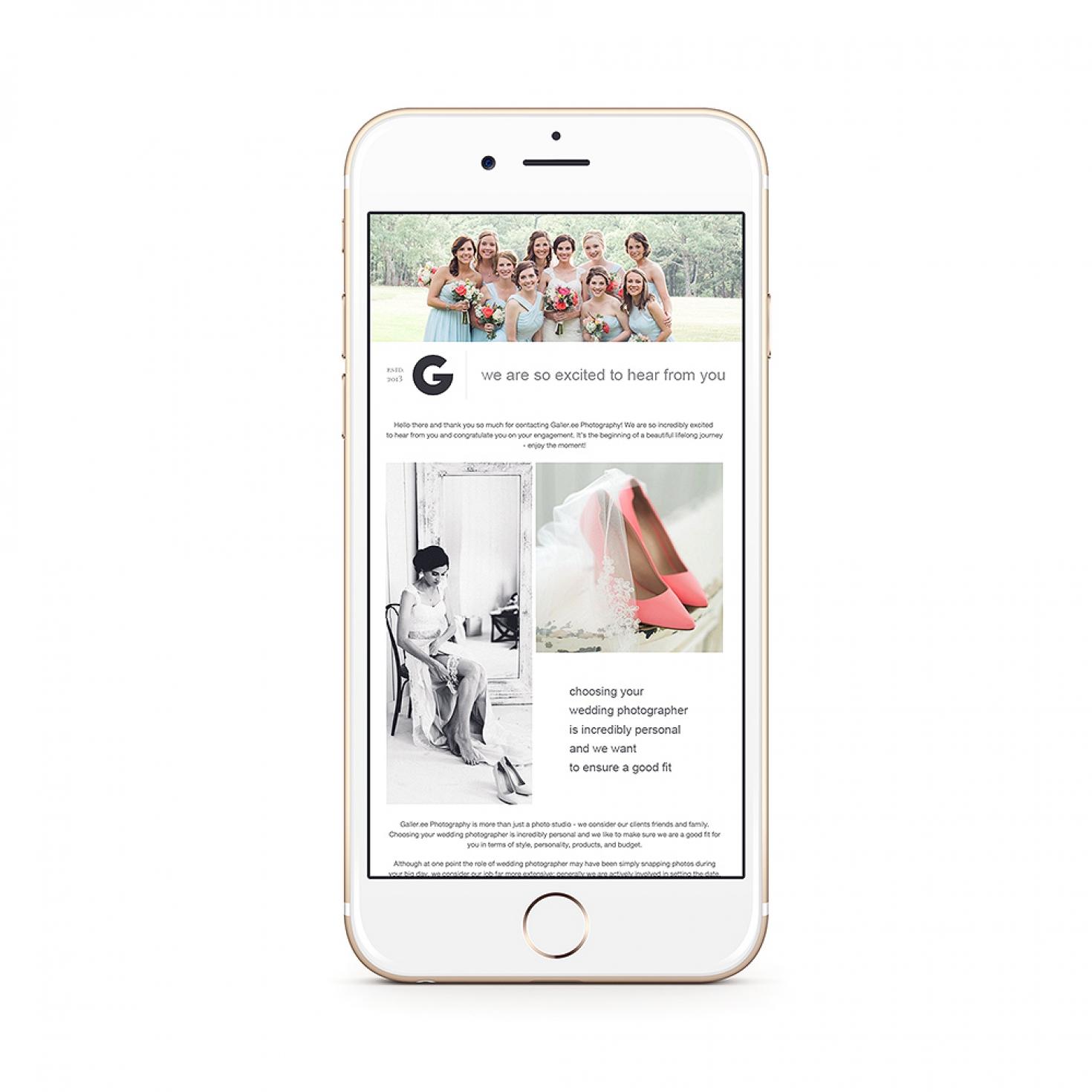 Wedding Inquiry Email Response | Shopgalleree com