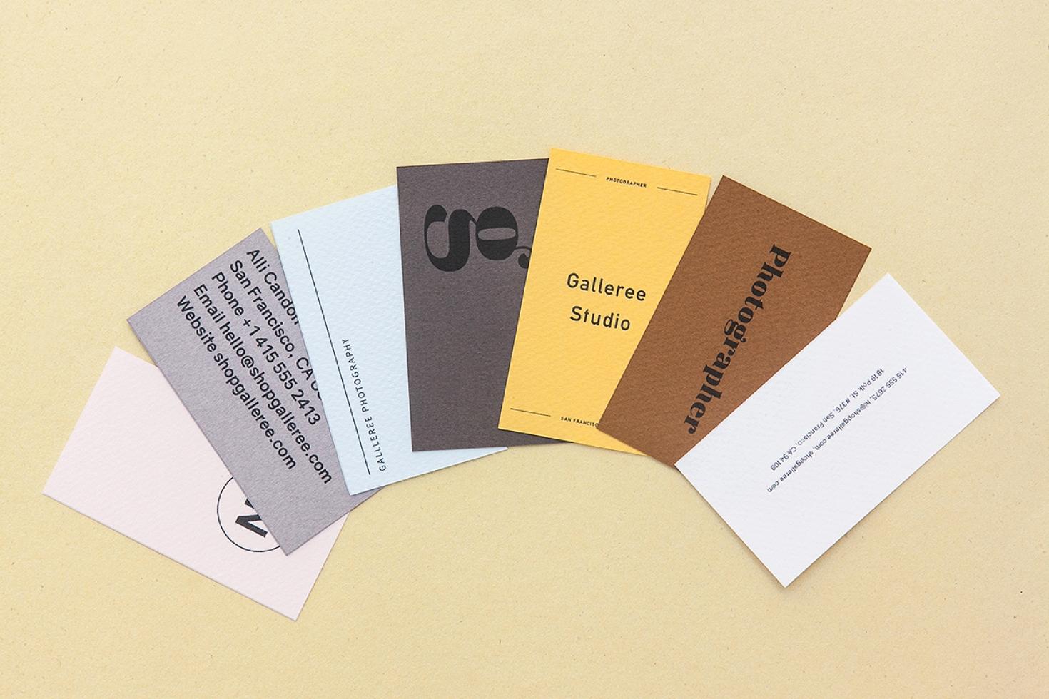 Artsy studio business cards shopgalleree photography artsy studio business cards colourmoves