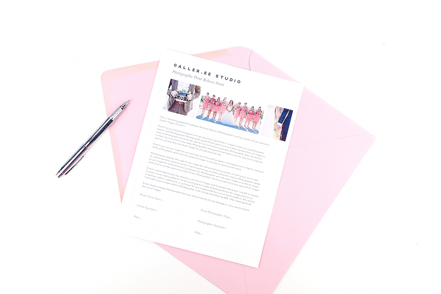 Print Release Form | Interactive Print Release Form Shopgalleree Com Photography